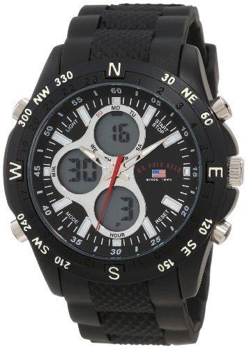 Para hombre Sport US9140 negro correa de goma Athletics analógico reloj Digital, ejercicios, entrenamiento, Sport, Fitness: Amazon.es: Relojes