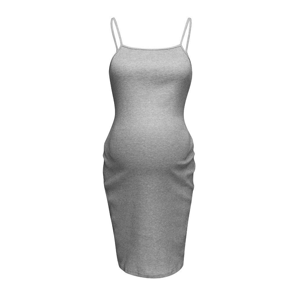 088d166ffd5 Amazon.com: TANLANG Women's Sleeveless Sling Baseball Raglan Sleeve Side  Breastfeeding Slim fit Pregnancy Dress: Clothing