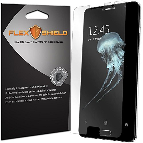 Tempered Glass For Alcatel Flash Plus 2 with Free Back Case (Blue) - 4