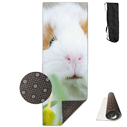 Jessent Yoga Mat Non Slip Rabbit Bunny Printed 24 X 71 Inches Premium For Fitness Exercise Pilates With Carrying -