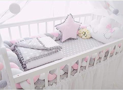 Baby Nestchen Bettwäsche Kinder Krippe Bettschlange Kopfschutz Dekoration Kissen