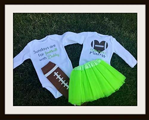 Seattle Seahawks Inspired Baby Onsies Set