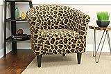 Mainstays Marlee Animal Printed Bucket Accent Chair (Wildcat Animal Print)