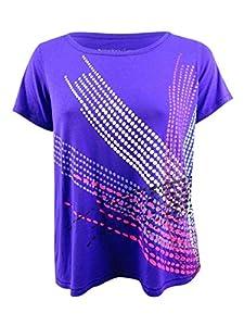 Ideology Womens Plus Lightweight Fitness Graphic T-Shirt Purple 1X