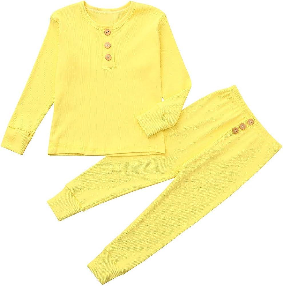 Bebés de Ropa Casual, YpingLonk Inicio Color Sólido Juego de ...