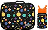 Kitchen & Housewares : Simple Modern Kids Lunch Bag and Water Bottle Bundle - 3L Hadley and 10oz Summit with Straw Lid - Solar System