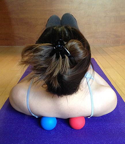Kieba Massage Lacrosse Balls for Myofascial Release, Trigger Point Therapy, Muscle Knots, and Yoga Therapy. Set of 2 Firm Balls (Blue and Red) by Kieba (Image #2)
