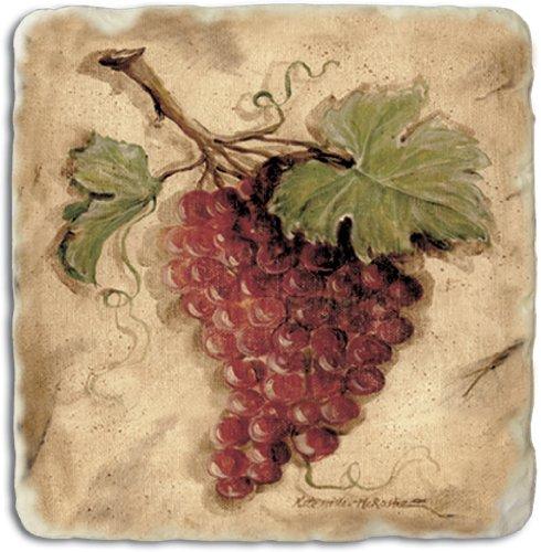 Counter Tumbled Coasters Tuscan Grape