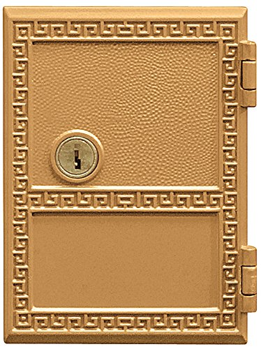 Salsbury Industries 2151 Replacement Door and Lock Number 1 Size for Americana Mailbox with Keys, Brass