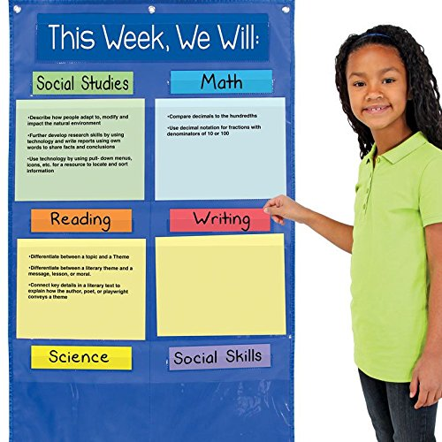 Really Good Stuff 163730 Learning Goals Pocket Chart, Assorted by Really Good Stuff