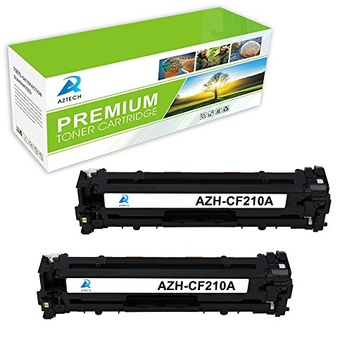Aztech 2 Packs CF210A Toner Cartridge Replacement for CF210A
