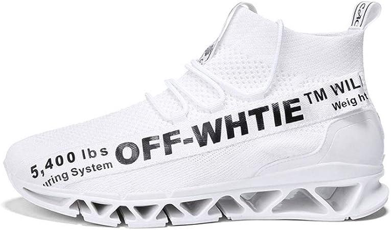 Zapatillas de running para hombre, zapatillas deportivas ocasionales Absorción de golpes Transpirable antideslizante Zapatillas de deporte Zapatillas de running para exterior para hombres,White,44: Amazon.es: Hogar