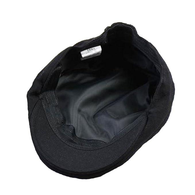 Hatteras Gorras Gatsby Hombres Muchacho Mujer Primavera Verano Sombrero, Negro: Amazon.es: Ropa y accesorios
