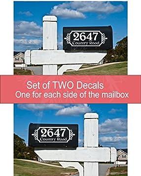 Mailbox Decal  Vinyl Mailbox Decal  Address Decal  Mailbox Decal  Mailbox Decor  Vinyl Decal  Wonderfully Made Creations