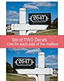 "Make your mailbox stand out with this Sticker Decal! Detailed application instructions, with photos, included with your purchase. This decal sticker does not adhere well to textured surfaces - we do not recommend you apply this decal to a ""texture po..."
