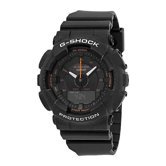 8ecd328576baf Casio G-Shock GMAS130VC-1A S-Series Step Tracker Black Watch  Amazon.ca   Watches