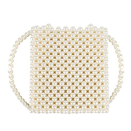 Clearance Sale!DEESEE(TM)Women Pearl Weave Multi Class Crossbody Bags Messenger Bag Handle Bag Purse (J) ()