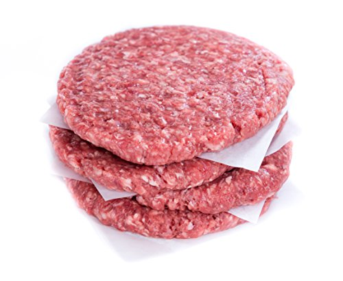 100% Grass Fed Ground Beef Patties 85% Lean, 15% Fat 1/4lb. (16 pack) ()