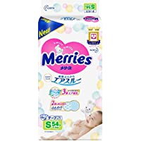 Merries tape smooth air-through S size (4 ~ 8kg) 54 sheets