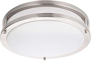 Drosbey 36W LED Ceiling Light Fixture, 13in Flush Mount Light Fixture, Ceiling Lamp for Bedroom, Kitchen, Bathroom, Hallway, Stairwell, Super Bright 3200 Lumens, 5000K Daylight White
