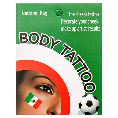 Dollaritem New 376260 Body Tattoo Temporary Mexican Flag (12-Pack) Party Set Wholesale Bulk Party Supplies Party Set Boys -