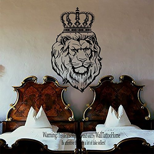 Cheap  Wall Decals Lion Decal Vinyl Crown Sticker Nursery Bedroom Home Decor Room..