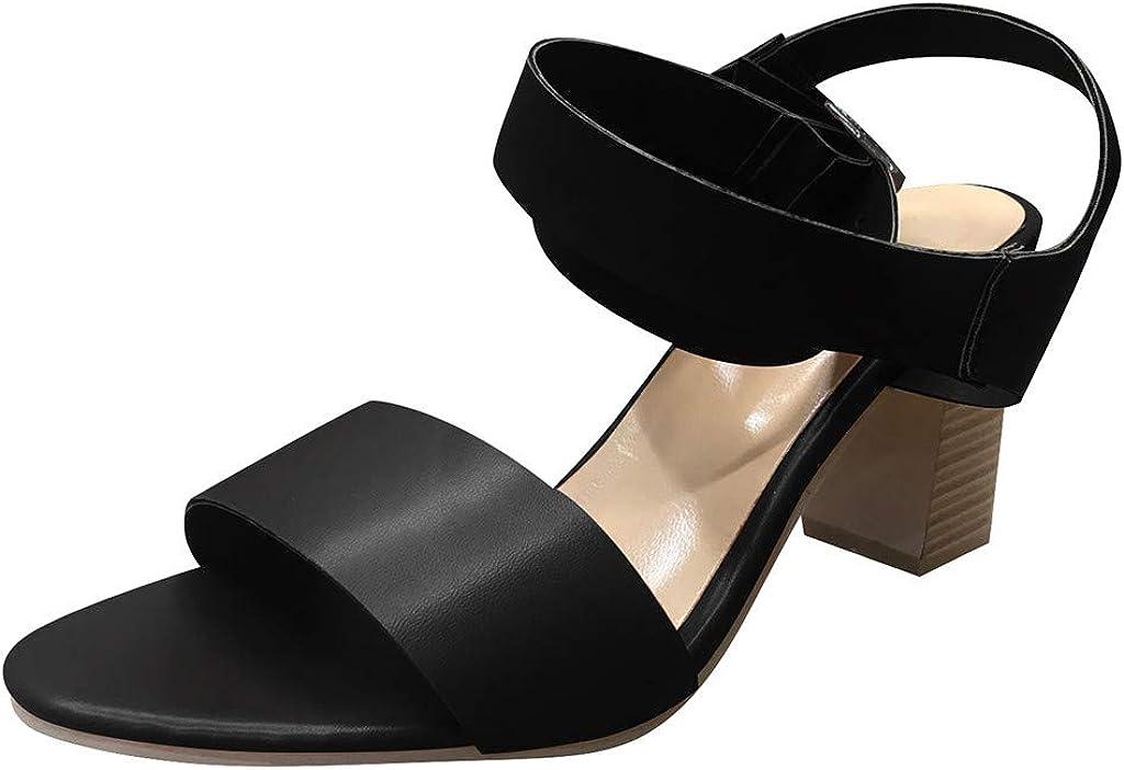Sandalias de tacón Plano para Mujer, de Piel Compensada, Color ...