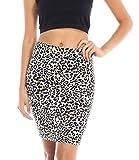 Simply Savvy Co Animal Leopard Print Skirt (Medium, Brown)