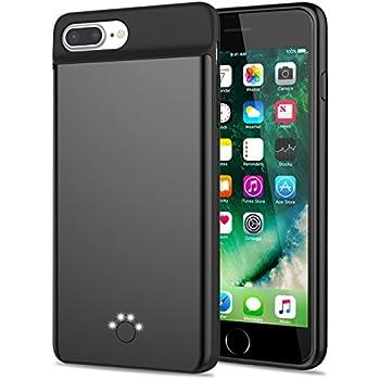 Amazon Com Iphone 8 Plus 7 Plus Battery Case Emishine 4000mah Slim