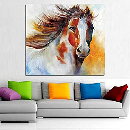 CHASOE Modern Wall Art 100% Handpainted Abstract Pictures Handsome Pony Pictures On Canvas Horse Oil Paintings For Wall and Home Decor