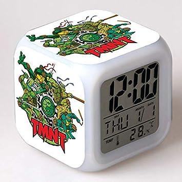 Amazon.com: TMNT Turtles LED 7 Colors Change Digital Alarm ...