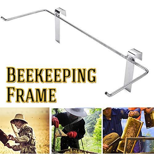 OKIl Stainless Steel Beekeeping Frame Beekeeper Stainless Steel Holder Bee Hive Honeycomb Side Mount