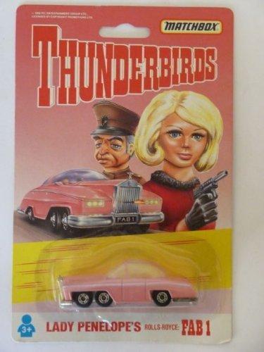 1992 Thunderbirds FAB 1 Lady Penelope`s Car Matchbox Diecast Vehicle by Thunderbirds ()