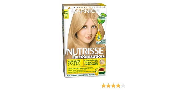 Garnier nutrisse Color SCRHTSENSA – Ducha, 10.31 miel Rubio ...