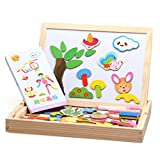 AxiEr Magnetic Kids Toys Wooden Double-face Dry Erase Board Games for Boys Girls