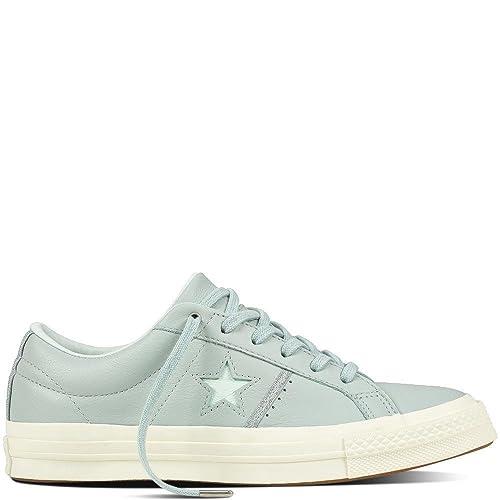 Converse Lifestyle One Star OX Leather, Zapatillas de Deporte Unisex Niños, Multicolor (Dried Bamboo/Silver/Egret 416), 36 EU: Amazon.es: Zapatos y ...