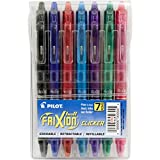 Pilot FriXion Clicker Retractable Erasable Gel Pens Fine Point (.7) Assorted Color Inks 7-pk; Make Mistakes Disappear, No Need For White Out with America's #1 Selling Pen Brand
