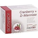CRANBERRY + D-MANNOSE mit PACRAN® Cranberry, stärkt Harnweg, Blase & Prostata, mit patentierter Formel, geprüfte Premium Qualität, 60 Tabletten (keine Kapseln)