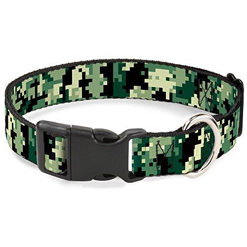 - Buckle-Down Plastic Clip Collar - Digital Camo - 1/2