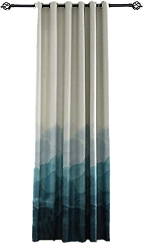 Editors' Choice: Blue Grommet Semi Blackout Curtains Gradient Panel Curtain Extra Wide Thermal Insulated Room Darkening Bedroom Window Treatment Drape