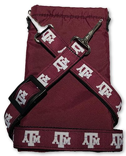 NCAA Collegiate Crossbody Strap with Cell Phone Pouch - Texas A&M (Texas A&m Aggies Oxford)