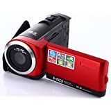 Camera Camcorder, Fosa HD 1080P Max.16.0 Megapixels 1280720P DV Handy Camera, Digital Video Camcorder 16X Zoom with 2.7 LCD and 270 Degree Rotation Screen(Red)
