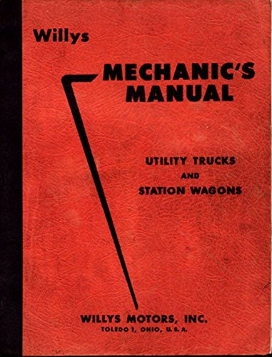 1946-1956 WILLYS JEEP MECHANIC'S MANUAL For UTILITY, used for sale  Delivered anywhere in USA