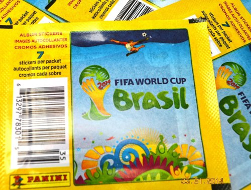 ld Cup Soccer Stickers (7 stickers/pack, 20 Packs) (Usa Brazil World Cup)