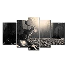 Black & White 5 Piece Wall Art Painting Deer In The Forest Pictures Prints On Canvas Animal The Picture Decor Oil For Home Modern Decoration Print For Office Walls