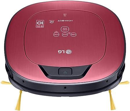 LG VR9624PR Hombot Turbo Serie 11 - Robot aspirador programable con doble cámara, limpieza a distancia vía Smartphone, para casas con mascotas, niños y alfombras, color rojo metalizado: Amazon.es: Hogar