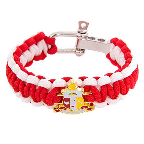 Kappa Alpha Psi Crest Paracord Bracelet - Adjustable Size NUPE (Alpha Merchandise)