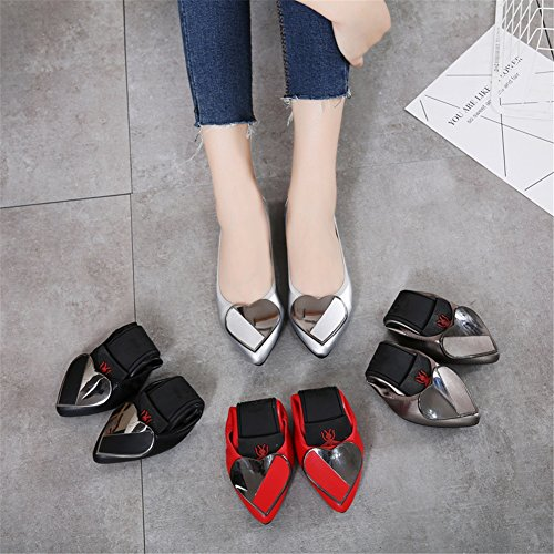 Size Flats Shoes A Women's Size Color Casual Large Flats 42 Heel Flat Microfiber Outdoor ONS Soft Slip Bottom Comfort F66qAp