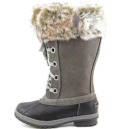 Waterproof Boot Weather Snow London Melton Grey Fog Cold Black Waterproof Womens gxw0vqpI
