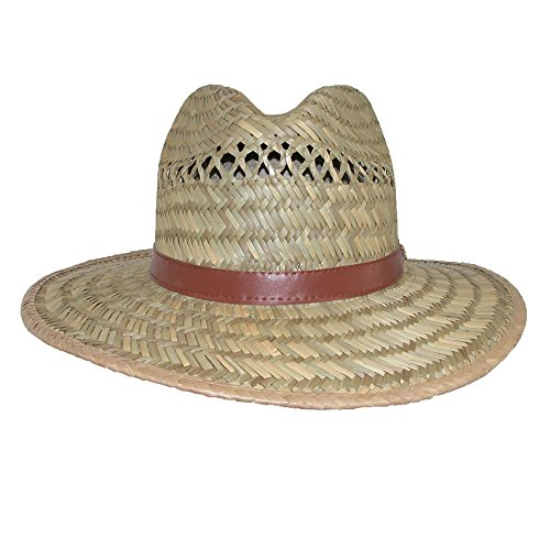 [Dorfman Pacific Rush Straw Casual Wide Brim Outdoor Safari Hat, Medium, Natural] (Straw Safari Hat)